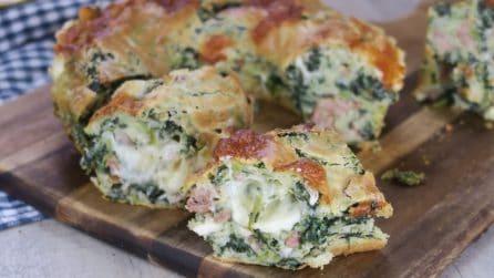 Ciambella salata con salsiccia e friarielli: il rustico che vi farà venire l'acquolina!