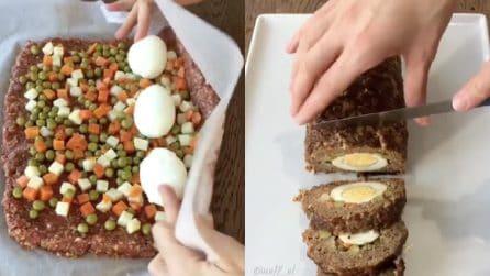 Polpettone ripieno con uova: una ricetta saporita e ideale per Pasqua