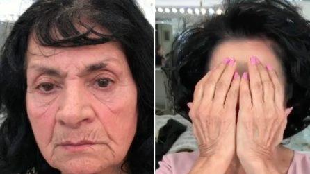Questa donna ha 80 anni, ma ringiovanisce in pochi minuti: il potere del make-up