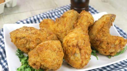 Pollo fritto: ecco il segreto per farlo croccante come quello americano!