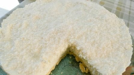 Cheesecake al cocco con wafer: un gusto unico