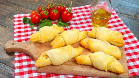 Cornetti salati: il trucco per prepararli in pochi minuti