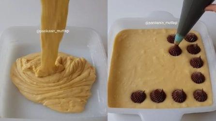 Aggiunge la crema al cioccolato all'impasto: una ricetta da leccarsi i baffi