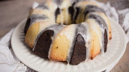 Chocolate vanilla swirl bundt cake