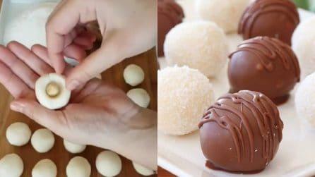 Cioccolatini al cocco fatti in casa: golosi e veloci da preparare