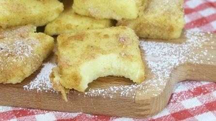 Latte dolce fritto: un dolce cremoso dentro e croccante fuori!