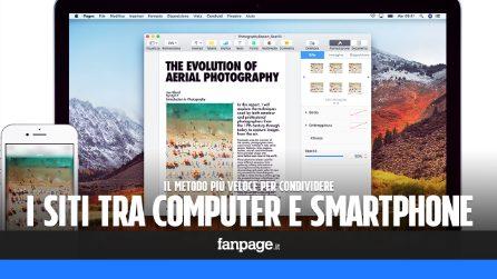 Il metodo più veloce per condividere una pagina web tra il computer e lo smartphone