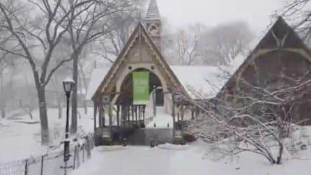 Le suggestive immagini di Central Park sotto la neve