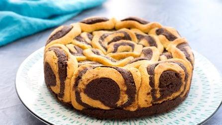 Crostata bicolore, un dolce creativo e goloso!