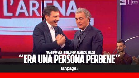 """Massimo Giletti ricorda Fabrizio Frizzi: """"Una persona perbene, sapevo che non sarebbe arrivato a questa estate"""""""