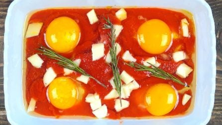 peasant style eggs: a recipe ready in a few minutes