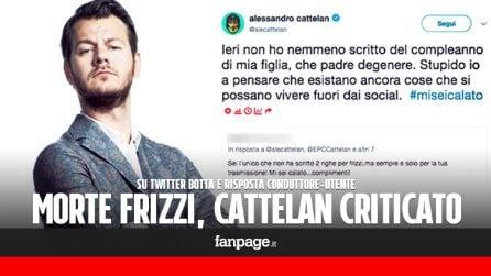 """Morte Fabrizio Frizzi, critiche a Cattelan: """"Sei l'unico che non ha scritto due righe"""". La replica"""