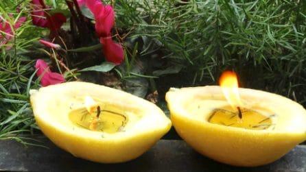 Come trasformare un limone in una candela profumata