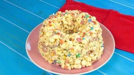 Popcorn cake: la torta originale senza cottura