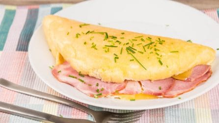 Ham and Cheese Souffle Omelette