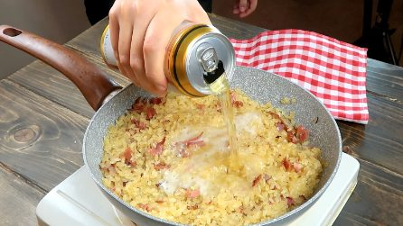 Beer risotto: a hack to make it extra special