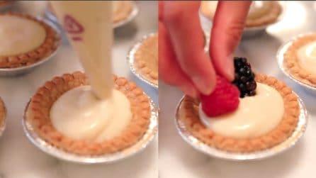 Mini crostate crema pasticcera e frutta: una delizia per il palato