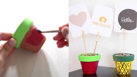 Come trasformare dei vasetti in carinissimi portafoto