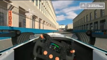 Roma, Formula E: il primo giro simulato del circuito cittadino dell'Eur