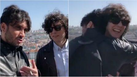 Ermal Meta e Fabrizio Moro alle prese con il video per l'Eurovision: il backstage è esilarante