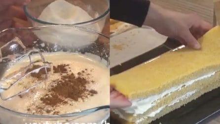 Tronchetto latte e cannella: i tuoi ospiti chiederanno il bis