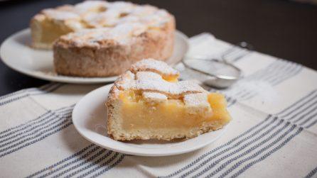 Crostata al limone, cremosa e piena di sapore!