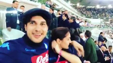 """Cristina Dell'Anna e il fidanzato allo stadio per Juve-Napoli: """"È un sogno"""""""