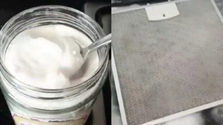 Filtro della cappa unto e incrostato: ecco il metodo perfetto per pulirlo