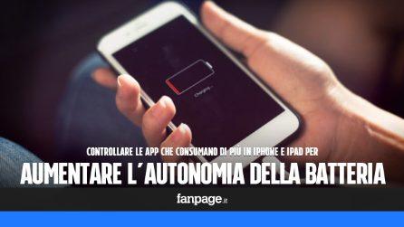 Aumentare l'autonomia della batteria in iPhone e iPad, controllando le app che consumano
