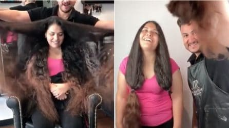 Dice addio ai suoi lunghissimi capelli: il risultato supera le aspettative