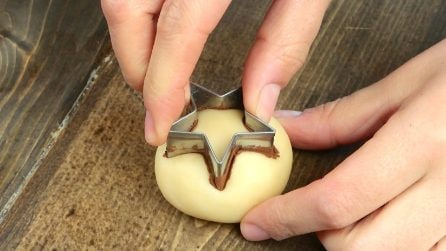 Place the cookie cutter on the dough to make something special