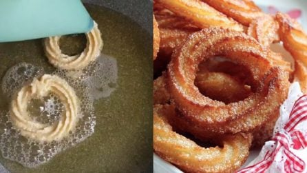 Mette l'impasto nella sac à poche e prepara delle ottime frittele dolci