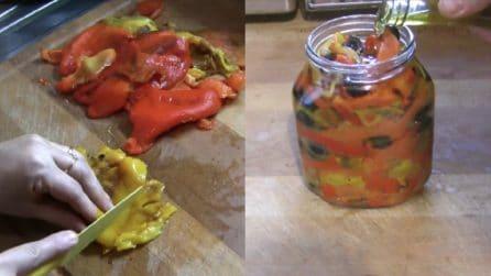 Peperoni arrostiti e sott'olio: ecco come prepararli