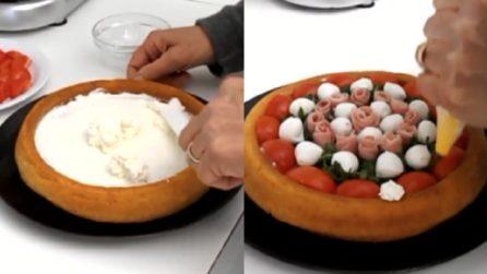 Torta salata con rose di prosciutto e bocconcini: una ricetta da provare