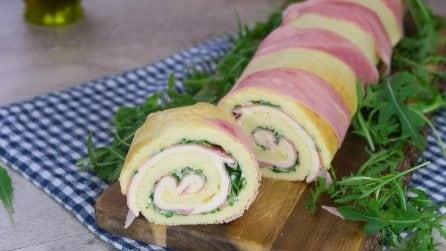 Rotolo salato: l'antipasto perfetto per sorprendere i vostri ospiti!