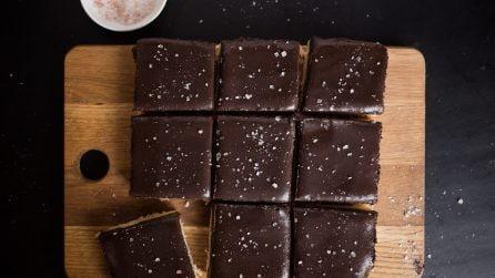 Barrette al cioccolato e caramello