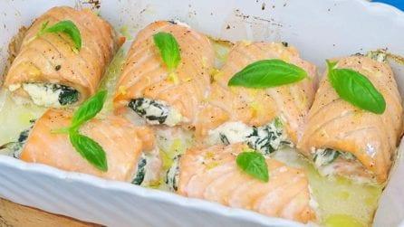 Involtini di salmone: il piatto estivo leggero e saporito!