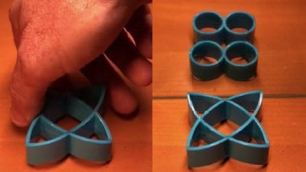 Cerchi o triangoli? Un oggetto di plastica che inganna la mente e la vista