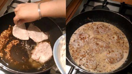 Scaloppine latte e noci: un secondo piatto delizioso pronto in pochi minuti