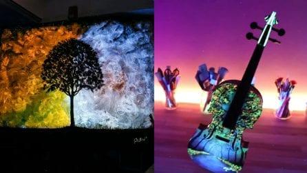 L'artista che nasconde i suoi segreti nel buio: quando spegne la luce le sue opere prendono vita