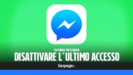 Se vuoi utilizzare Facebook Messenger in incognito, disattiva l'orario di ultimo accesso