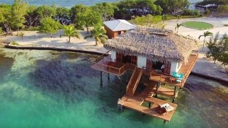 L'isola per due persone che si illumina di notte: il sogno di tutti gli innamorati diventa realtà