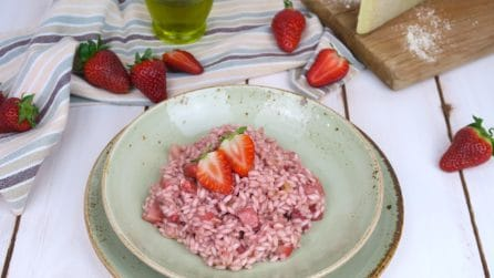 Strawberry risotto: surprise your palate with this risotto!