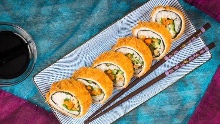 Rotolo di carne fritto: vi sembrerà sushi!