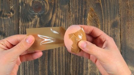 How to peel an egg with tape