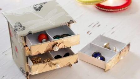 Come realizzare un portagioielli con le scatole dei fiammiferi