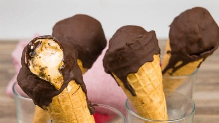 Salted Caramel Ice Cream Cones