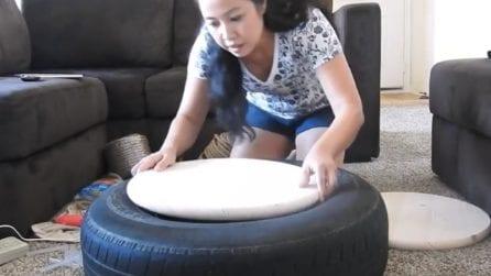 Come trasformare un vecchio pneumatico in un tavolino moderno