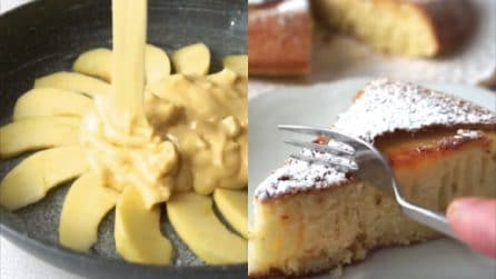 Torta di mele cotta in padella: veloce e deliziosa