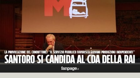 """Michele Santoro torna in tv e lancia la provocazione: """"Mi candido al Cda della Rai"""""""